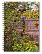 Apple Orchard Harvest Spiral Notebook