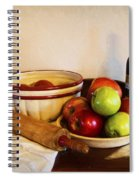 Apple Pie Impressions Spiral Notebook