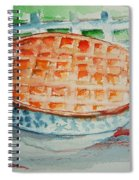 Apple Pie With Lattice Crust Spiral Notebook