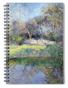 Apple Tree And Crescent Moon Spiral Notebook