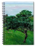 Apple Trees By The Sea Trouville Spiral Notebook