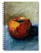 Apple With Olive And Grey Spiral Notebook