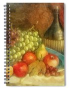 Apples And Grapes Spiral Notebook