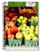 Apples At Farmer's Market Spiral Notebook