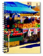 Apples Cortlands Lobos Honey Crisps Mcintosh Atwater Market Apple Fruit Stall Foodart Carole Spandau Spiral Notebook