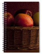 Apples In Basket Spiral Notebook