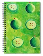 Apples In Halves Spiral Notebook