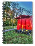 Appomattox Caboose At Sun Rise Spiral Notebook