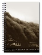 Approaching Dust Storm In Middle West By Frank D. Conard Circa 1938 Spiral Notebook