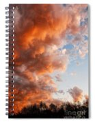 Approaching Glory Spiral Notebook