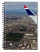 Approaching Phoenix Az Wing Tip View Spiral Notebook