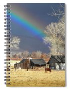 Approaching Storm At Cattle Ranch Spiral Notebook