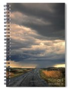 Approaching Storm On Country Road Spiral Notebook