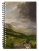 Approaching Storm  White Mountains Spiral Notebook