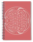 Apricot Circle Abstract Spiral Notebook
