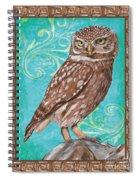 Aqua Barn Owl Spiral Notebook