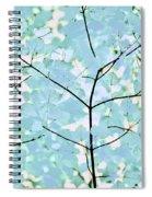 Aqua Blues Greens Leaves Melody Spiral Notebook