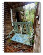 Aqua Porch Swing Spiral Notebook