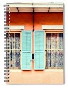 Aqua Shutters Spiral Notebook