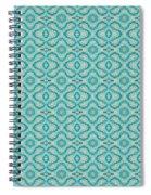 Aqua X Arrangement Spiral Notebook