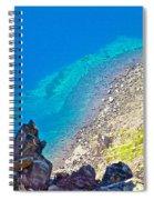Aquamarine Shoreline At North Junction Of Crater Lake In Crater Lake National Park-oregon Spiral Notebook