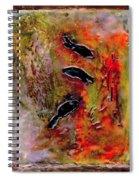 Aquarium Encaustic Spiral Notebook