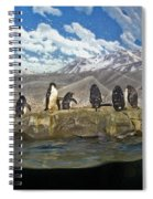 Aquarium Penguins Line Dance Spiral Notebook