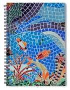 Aquatic Mosaic Tile Art Spiral Notebook