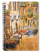 Arancio Sul Canale Spiral Notebook