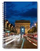 Arc De Triomphe At Dusk Paris Spiral Notebook