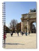 Arc De Triomphe Du Carrousel In Paris France  Spiral Notebook