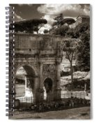 Arch Of Contantine Spiral Notebook