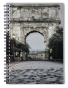 Arch Of Titus Morning Glow Spiral Notebook