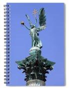 Archangel Gabriel Statue In Budapest Spiral Notebook