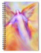 Archangel Uriel In Flight Spiral Notebook