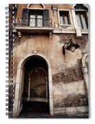 Arched Passage In Old Rustic Venetian House Spiral Notebook