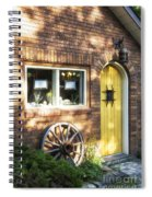 Arched Yellow Door Spiral Notebook
