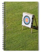 Archery Round Target On A Stand Spiral Notebook