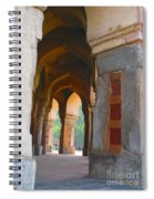 Arches At Red Fort Spiral Notebook