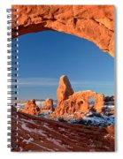 Arches Window Frame Spiral Notebook