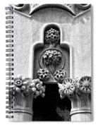 Architectural Detail - Barcelona - Spain Spiral Notebook