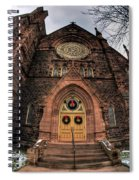 Architecture And Places In The Q.c. Series 01 Trinity Episcopal Church Spiral Notebook