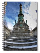 Architecture And Places In The Q.c. Series  Soldiers And Sailors Monument In Lafayette Square Spiral Notebook