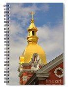 Architecture - Golden Cross Spiral Notebook