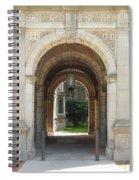 Archway To Courtyard Spiral Notebook