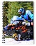 Arctic Cat Snowmobile Spiral Notebook