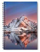 Arctic Dawn Over Reine Village Spiral Notebook