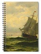 Arctic Whalers Homeward Bound Spiral Notebook