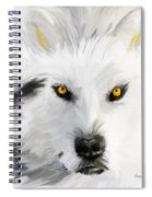 Arctic Wolf With Yellow Eyes Spiral Notebook