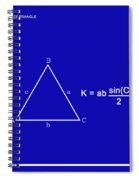 Area Of An Isosceles Triangle Dk Blue/wht Spiral Notebook